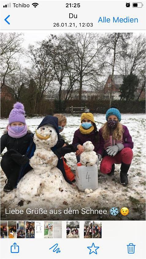 Schnee 1©Grundschule Landesbergen